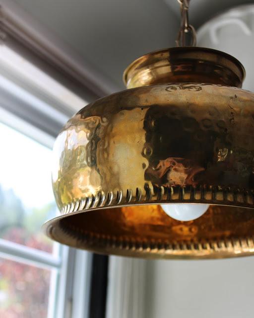 Diy brass bowl pendant