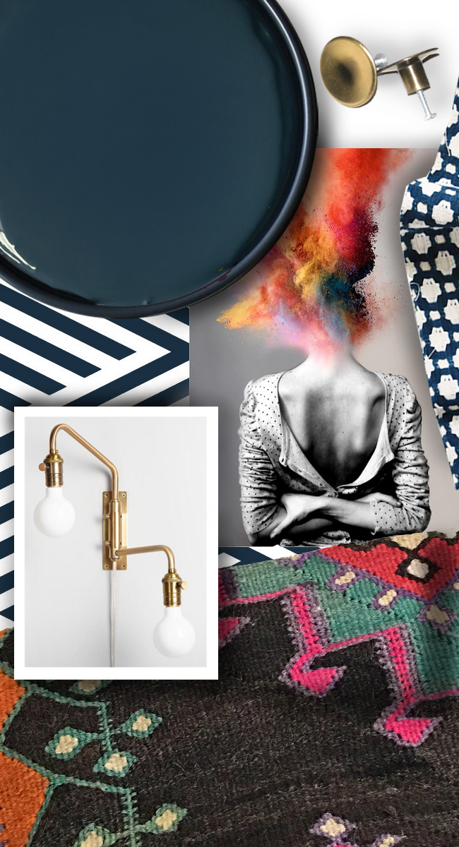 Mood Board for Guest Room at ProjectFamJam by Hunted Interior