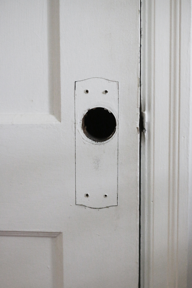 Removing existing Doorknob.