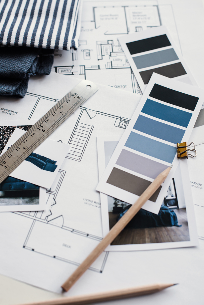Floor plans, Paint swatches, new build, addition