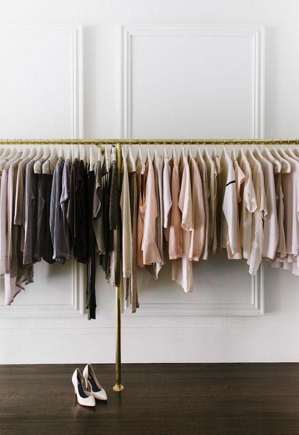 Garment Rack, Brass, Moulding