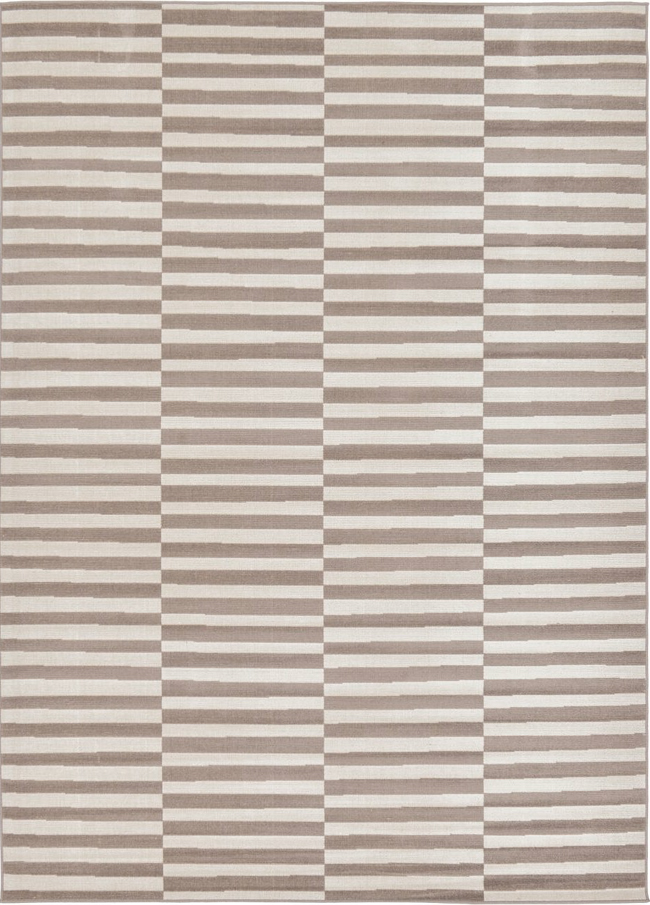 Offset Striped Area Rug