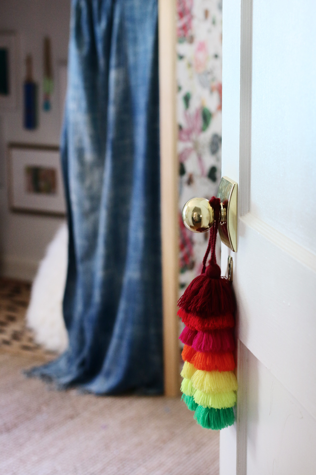 tassel on door