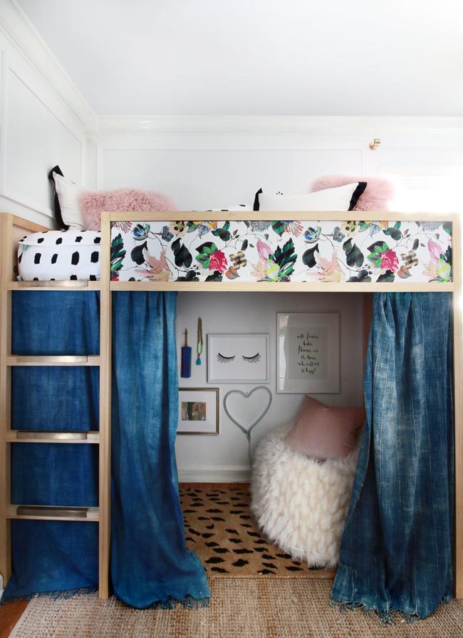 floral loft bed