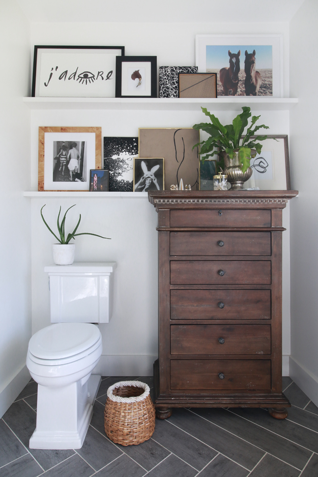 Before Deciding To Do The Art Rail Installation Over The Toilet, The Blank  Wall Seemed Rather Ominous. While Not A Huge Spans Of Wall, It Was  Definitely ...