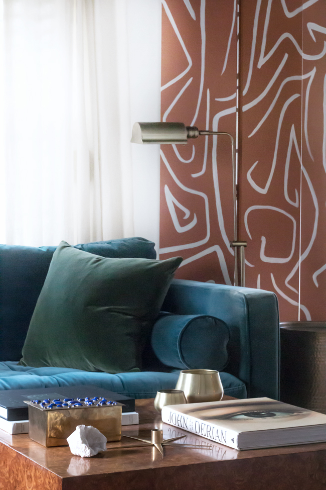 Sherwin Williams Color of the Year 2019 - Cavern Clay - DIY Folding Screen - Abstract